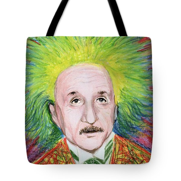Albert Einstein Tote Bag by Yoshiko Mishina