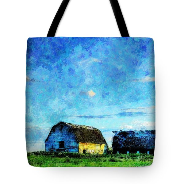 Alberta Barn At Sunset Tote Bag