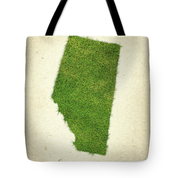 Alberta Grass Map Tote Bag by Aged Pixel