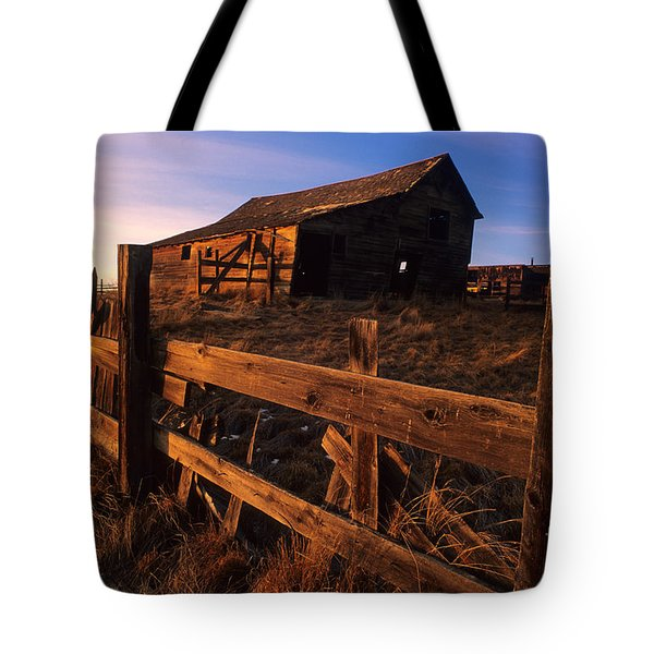 Alberta Homestead Tote Bag by Bob Christopher