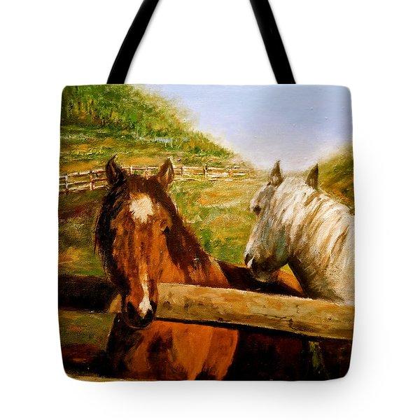 Alberta Horse Farm Tote Bag