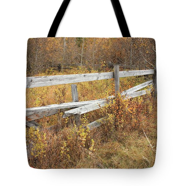 Alberta Ranchlands - Abandoned Corral Tote Bag
