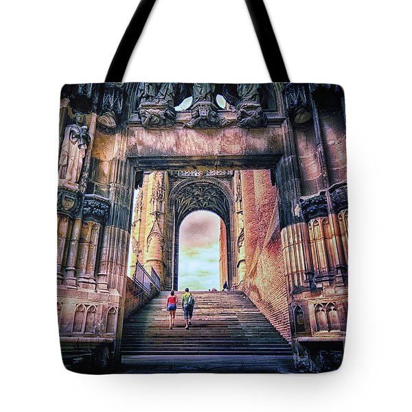 Tote Bag featuring the photograph Albi Cathedral Arch To Heaven by Jack Torcello