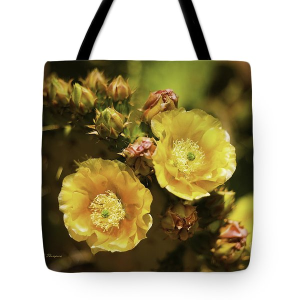 Tote Bag featuring the photograph 'albispina' Cactus #3 by Richard J Thompson