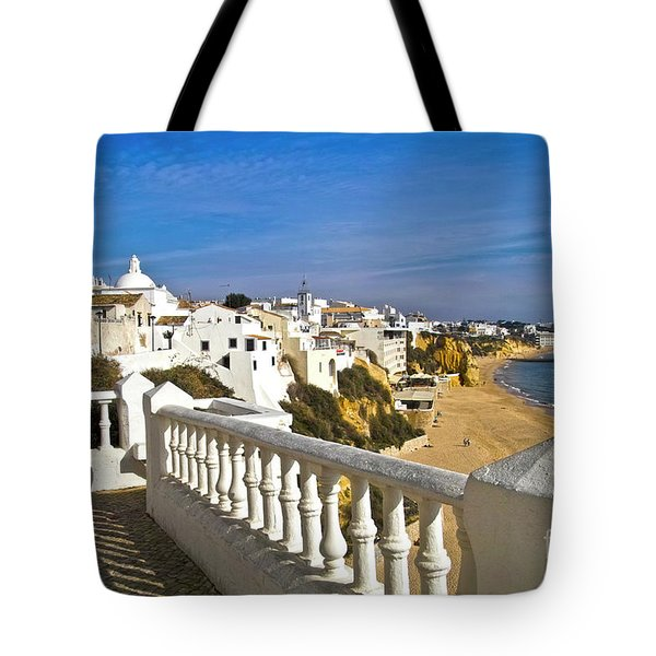 Albufeira Village By The Sea Tote Bag by Heiko Koehrer-Wagner