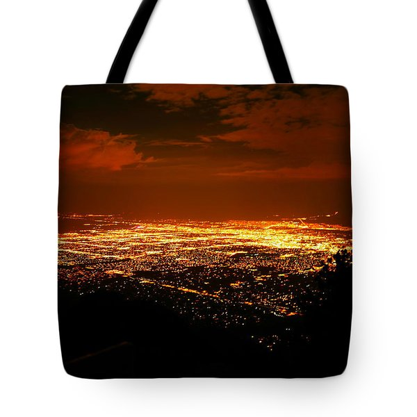 Albuquerque New Mexico  Tote Bag by Jeff Swan