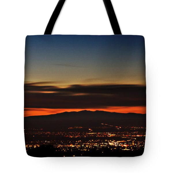 Albuquerque Sunset Tote Bag by Marlo Horne