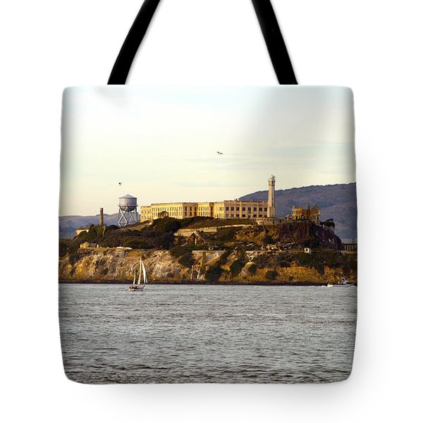 Alcatraz Island From Fisherman's Wharf Tote Bag