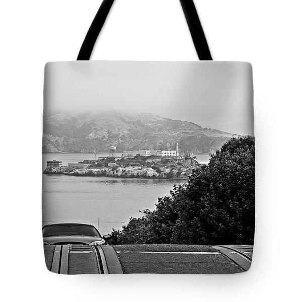 Alcatraz Island From Hyde Street In San Francisco Tote Bag by RicardMN Photography