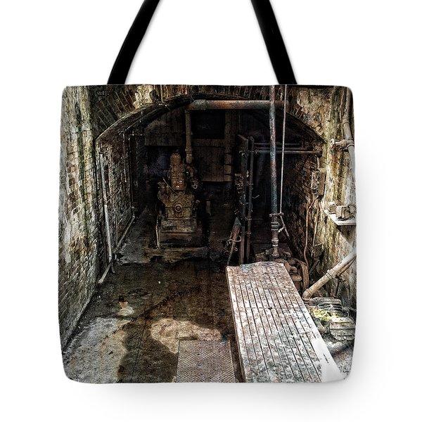 Alcatraz Island Morgue Tote Bag by Daniel Hagerman