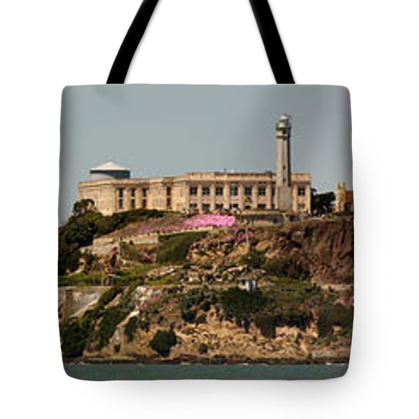 Alcatraz Panorama Tote Bag