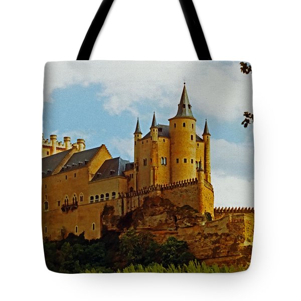 Alcazar Castle In Segovia Spain Tote Bag