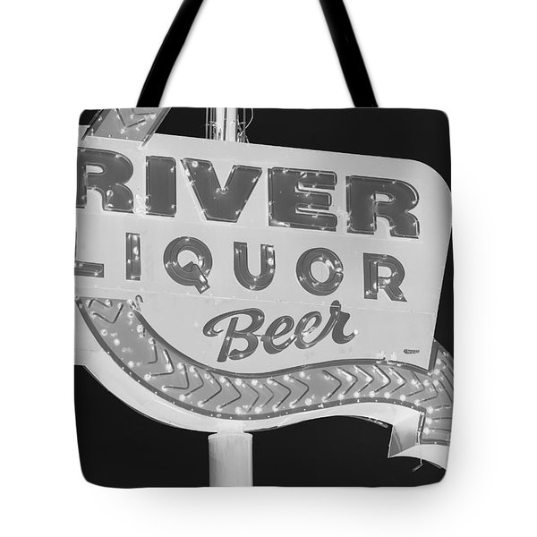 Tote Bag featuring the photograph Alcohol Sign by Jerry Bunger
