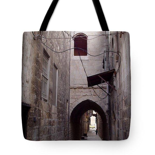 Aleppo Alleyway04 Tote Bag by Mamoun Sakkal