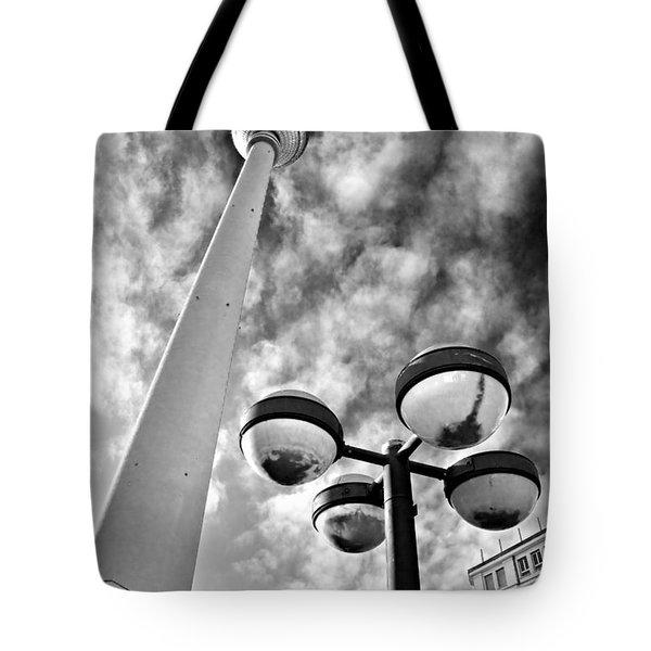 Alexander Platz - Berlin Tote Bag by Luciano Mortula