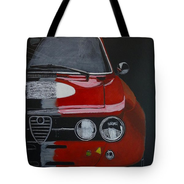 Tote Bag featuring the painting Alfa Romeo Gtv  by Richard Le Page