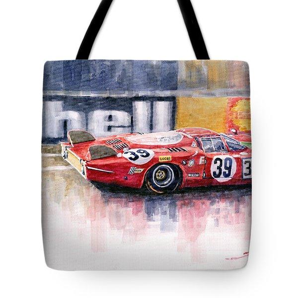 Alfa Romeo T33 B2 Le Mans 24 1968 Galli Giunti Tote Bag by Yuriy  Shevchuk