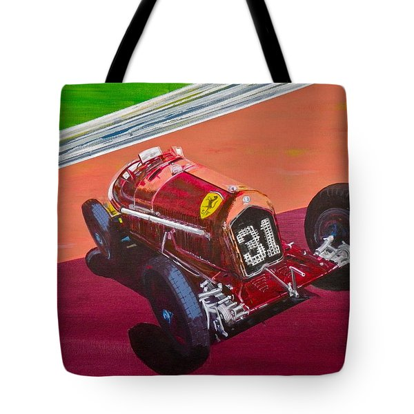 Tote Bag featuring the painting Alfa Romeo Tipo B P3  by Anna Ruzsan