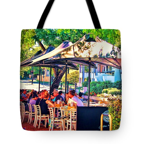 Tote Bag featuring the photograph Alfresco by Wallaroo Images