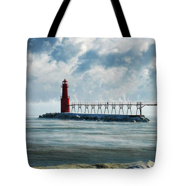 Algoma Pierhead Lighthouse Tote Bag