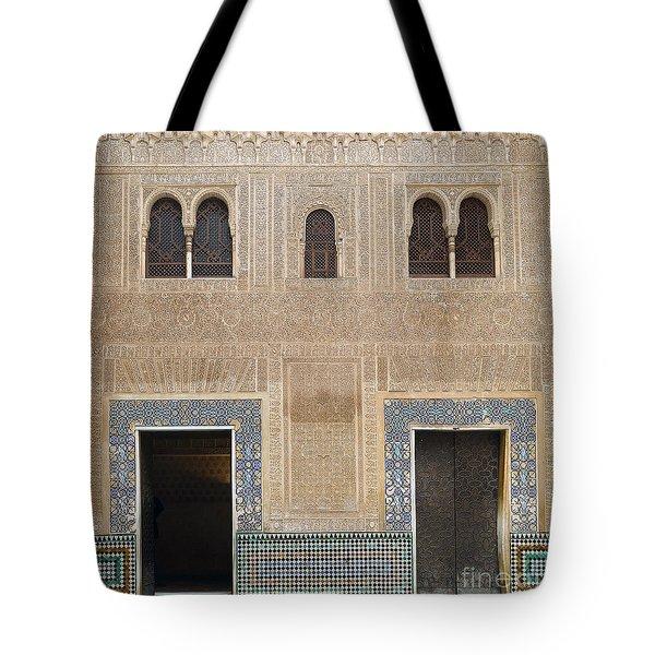 Alhambra Court Granada Tote Bag by Rudi Prott