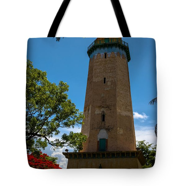 Alhambra Water Tower Of Coral Gables Tote Bag