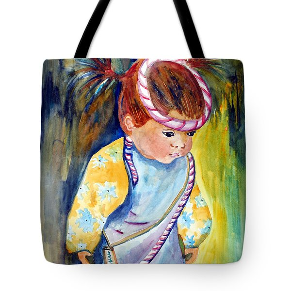 Ali Learns To Bow Tote Bag