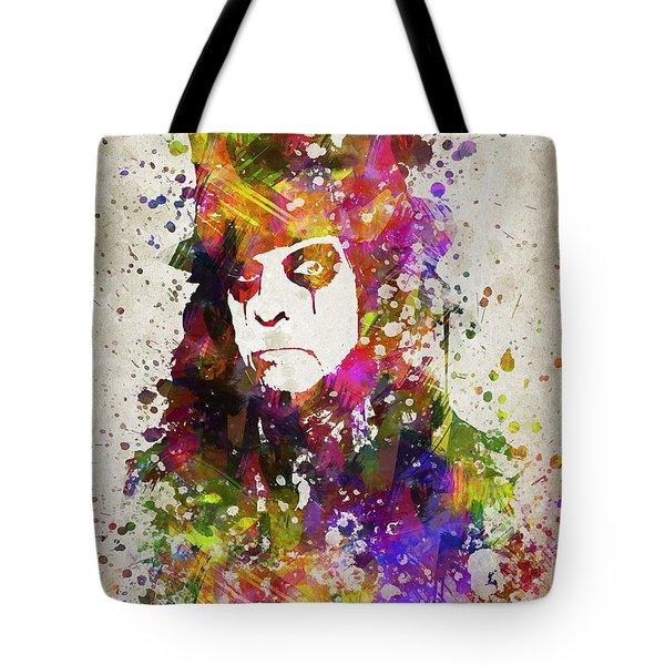Alice Cooper In Color Tote Bag