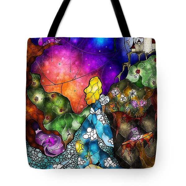 Alice's Wonderland Tote Bag