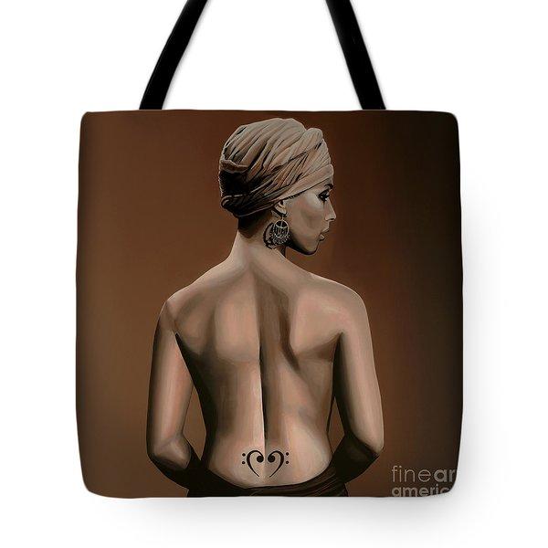 Alicia Keys  Tote Bag by Paul Meijering
