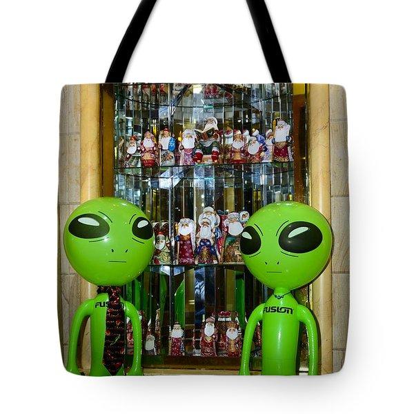 Alien Christmas Tour Tote Bag
