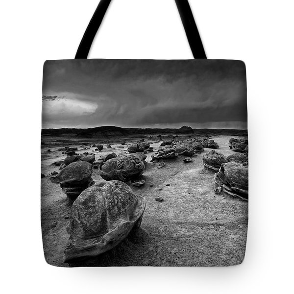 Tote Bag featuring the photograph Alien Eggs At The Bisti Badlands by Keith Kapple