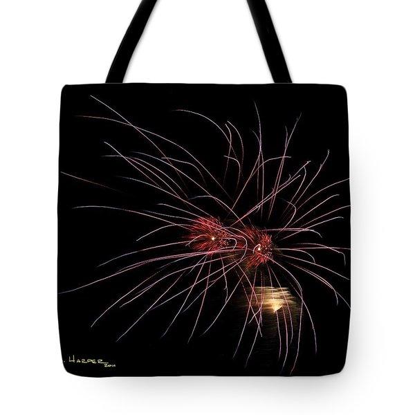 Alien Eyes - Fireworks At St Albans Bay Tote Bag
