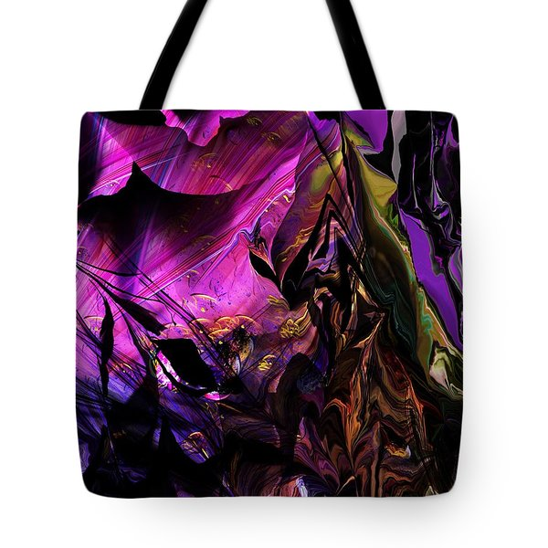 Tote Bag featuring the digital art Alien Floral Fantasy by David Lane
