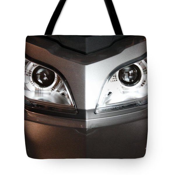 Alien Headlights  Can Am Spyder Motorcycle Tote Bag
