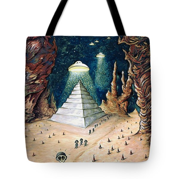 Alien Invasion - Space Art Painting Tote Bag