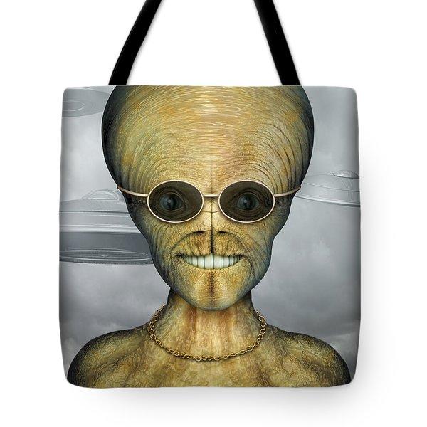 Alien Tote Bag by James Larkin