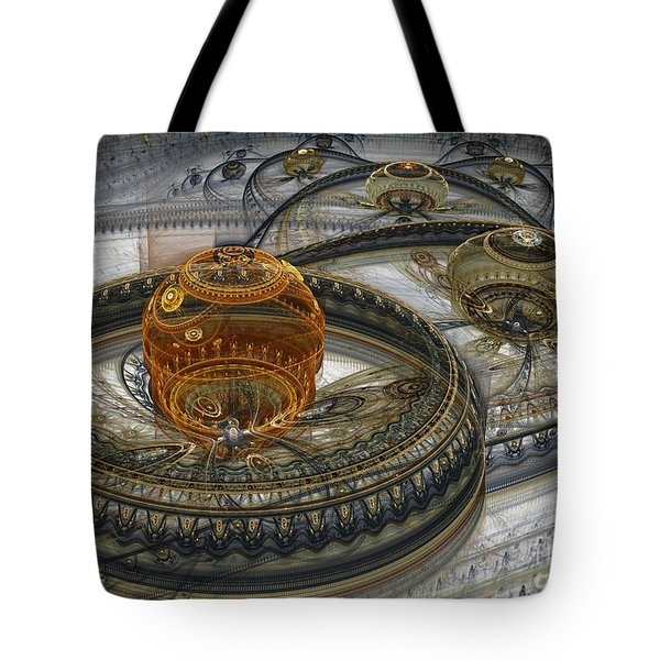 Alien Landscape II Tote Bag by Martin Capek