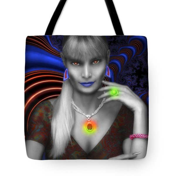 Alien  Tote Bag by Mauro Celotti