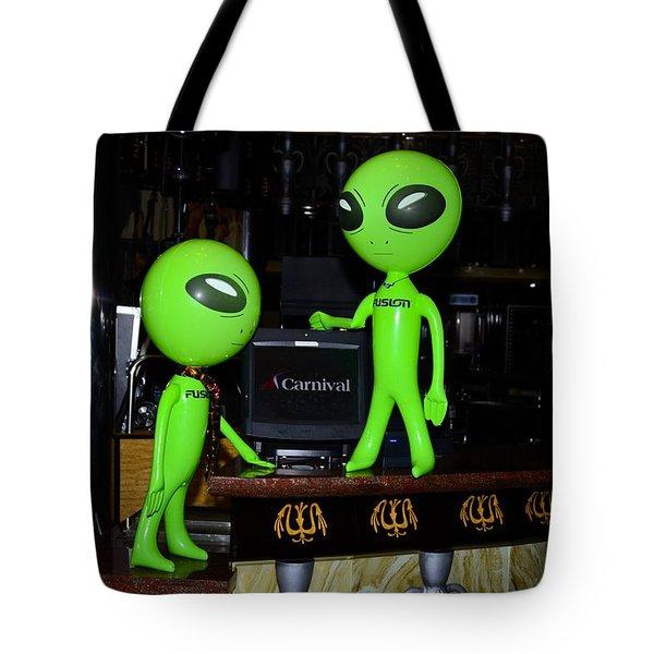 Alien Monitor Repair Tote Bag