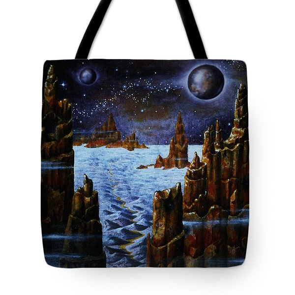 Ice And Snow  Planet  Tote Bag