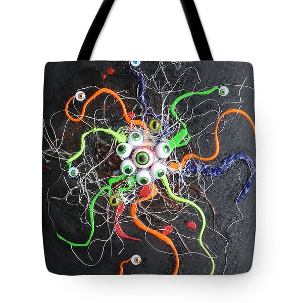 Alien Octopus In Spiderweb Tote Bag