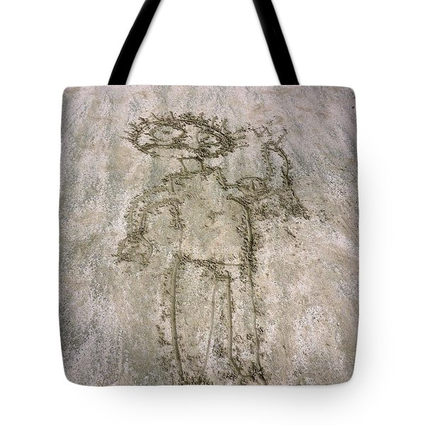 Alien On The Beach Tote Bag