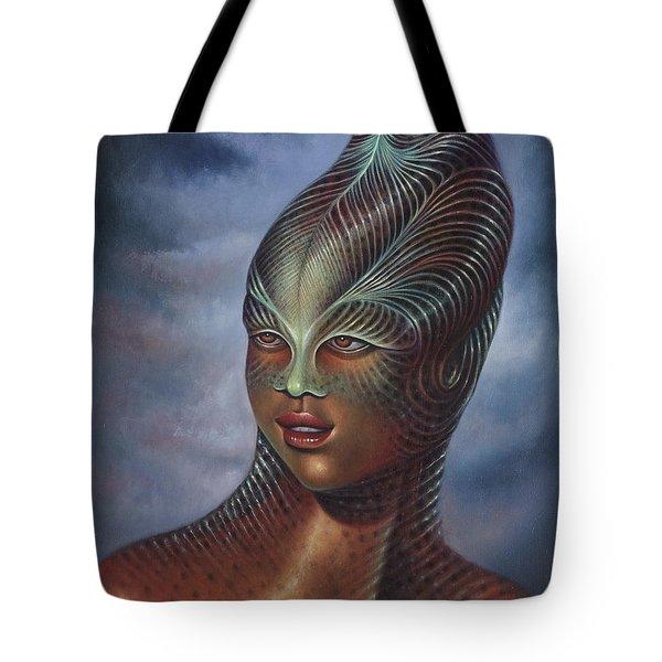 Alien Portrait I Tote Bag by Ricardo Chavez-Mendez