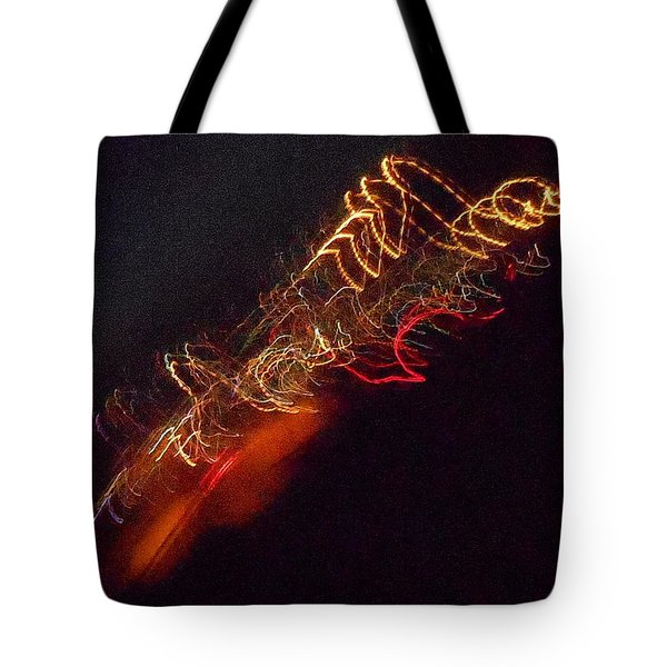 Alien Spacecraft Tote Bag