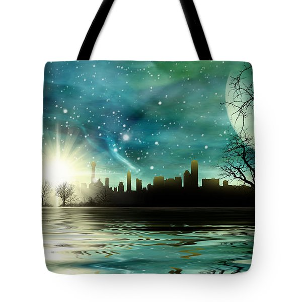 Alien World Waterscape Tote Bag