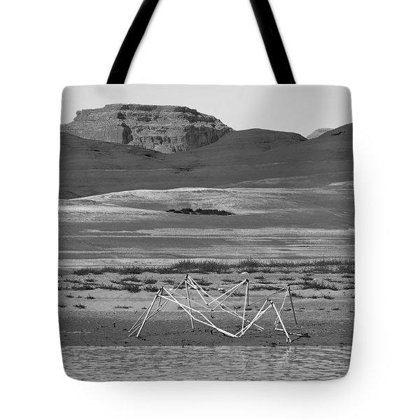 Alien Wreckage Bw - Lake Powell Tote Bag by Julie Niemela
