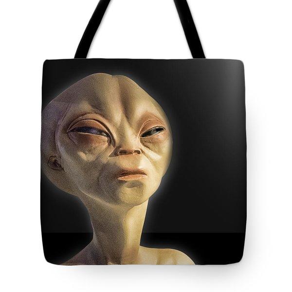 Alien Yearbook Photo Tote Bag