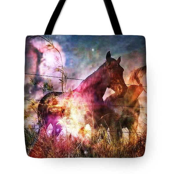 Aliens Took Us Tote Bag by PainterArtist FIN