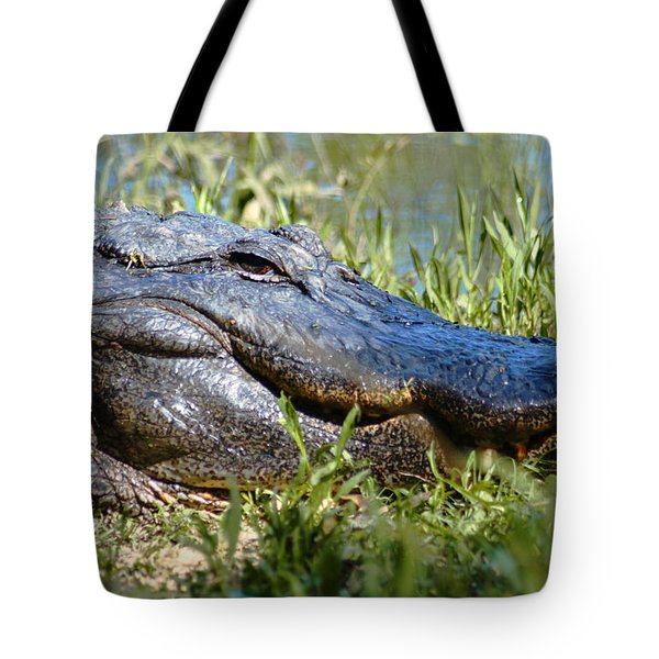Alligator Smiling Tote Bag